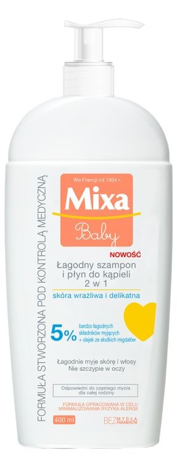 "Mixa Baby Szampon 2w1  400ml"""