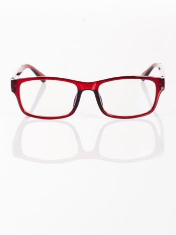 Modne okulary zerówki KUJONKI NERDY; soczewki ANTYREFLEKS+system FLEX na zausznikach