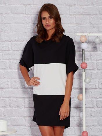 Modułowa sukienka dzienna oversize czarna