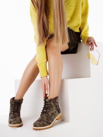 Moro buty trekkingowe damskie, ocieplane traperki z jasnobeżową podeszwą