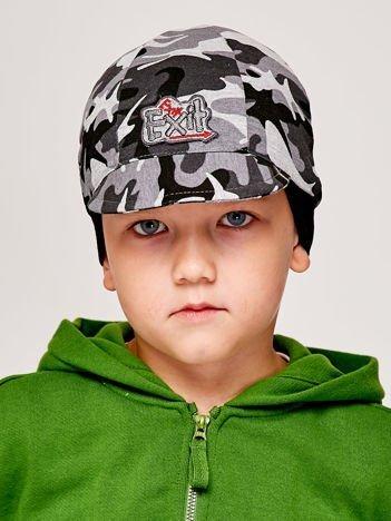 Moro czapka chłopięca z daszkiem i naszywką EXIT szara