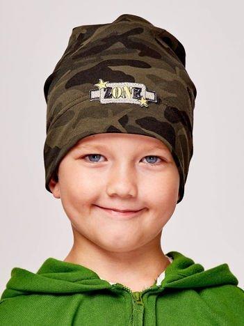 Moro czapka chłopięca z naszywką ZONE zielona