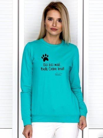 Morska bluza damska z łapką KICI KICI by Markus P