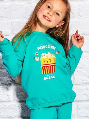 Morska bluza dziecięca z popcornem