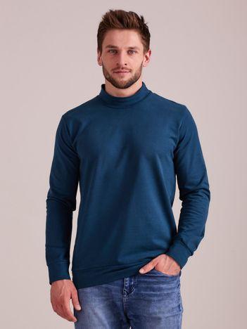 Morska gładka bluza męska