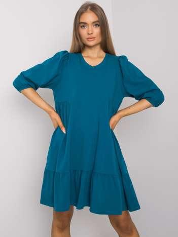 Morska sukienka z bawełny Yelda