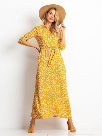 Musztardowa sukienka Icon