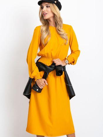 Musztardowa sukienka Saffire