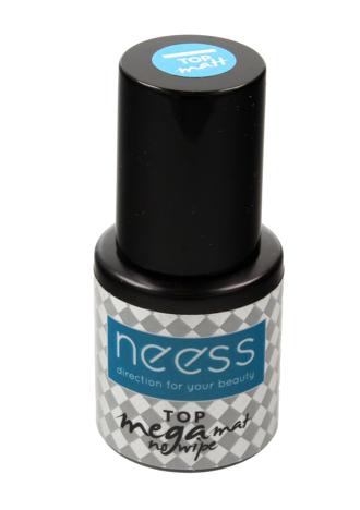 "NEESS Top Mega Mat No Wipe na lakier hybrydowy  8ml"""