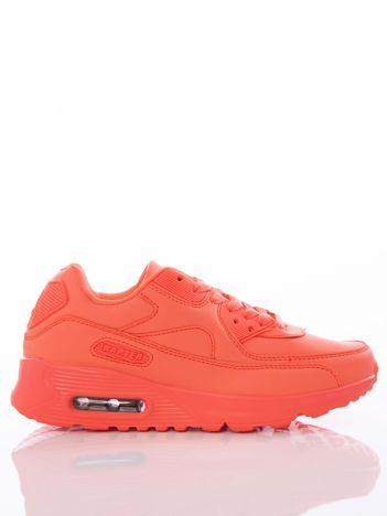 Neopomarańczowe buty sportowe z poduszką powietrzną
