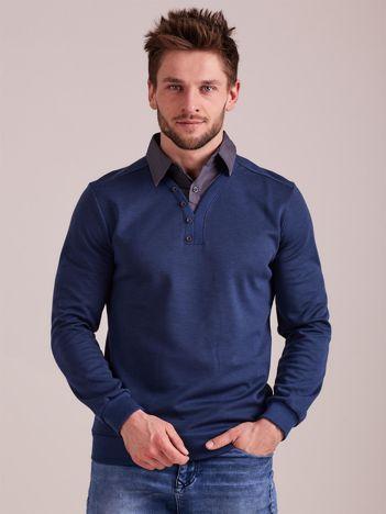 Niebieska bluza męska z koszulą