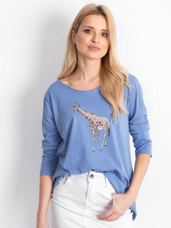 Niebieska bluzka Giraffe