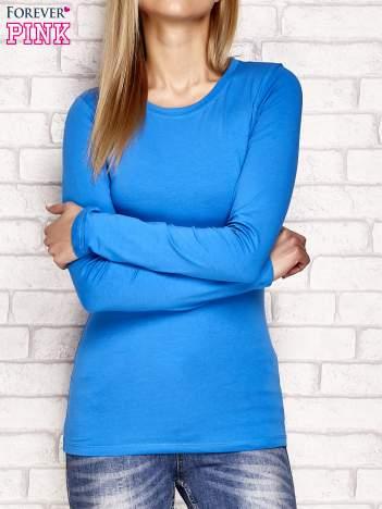 Niebieska bluzka basic