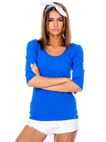 Niebieska bluzka damska basic