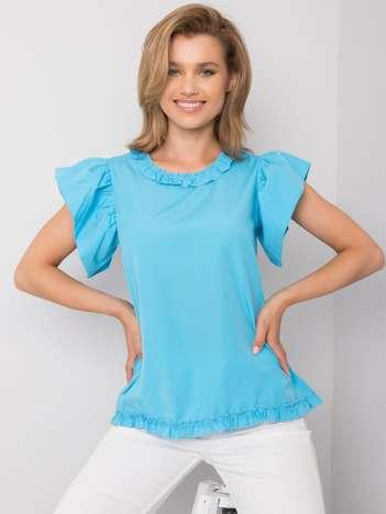 Niebieska bluzka damska z falbankami Arya