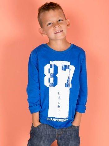 Niebieska bluzka dziecięca urban print