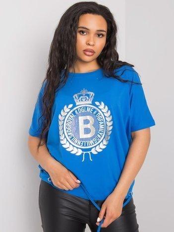 Niebieska bluzka plus size Ruthie