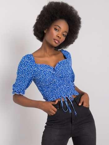 Niebieska bluzka we wzory Layne RUE PARIS