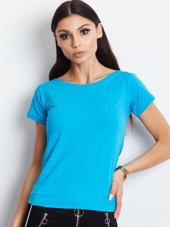 Niebieska bluzka z wiązanym tyłem