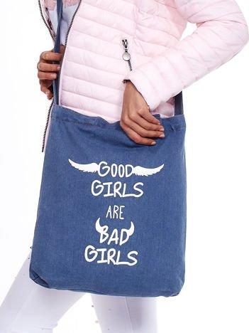 Niebieska dżinsowa torba GOOD GIRLS BAD GIRLS