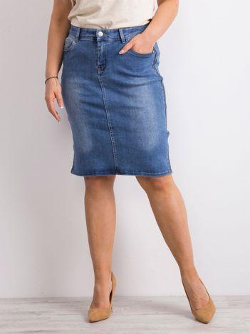 Niebieska jeansowa spódnica PLUS SIZE