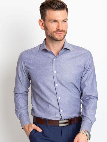 Niebieska koszula męska Scott