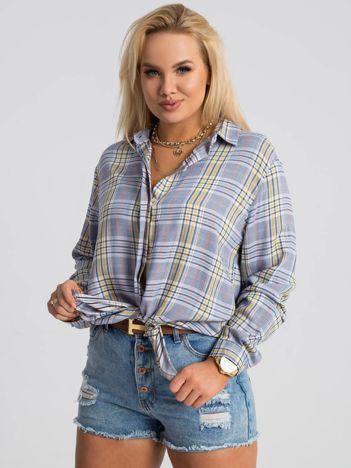 Niebieska koszula plus size Claudia RUE PARIS