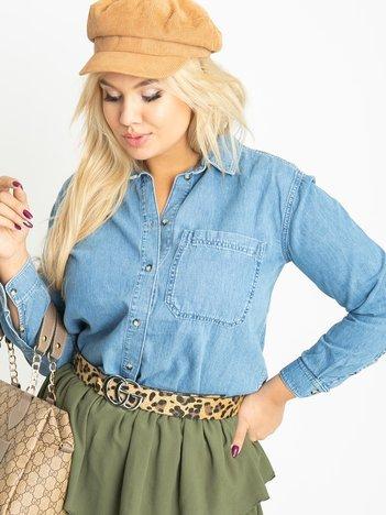 Niebieska koszula plus size Ramona