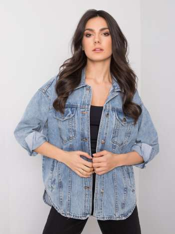 Niebieska kurtka damska jeansowa Modena