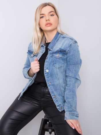 Niebieska kurtka jeansowa plus size Kristi
