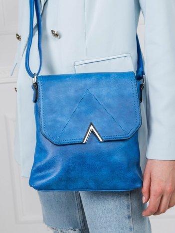 Niebieska mała torebka damska