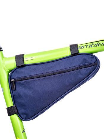 Niebieska materiałowa saszetka rowerowa