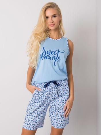 Niebieska piżama dwuczęściowa