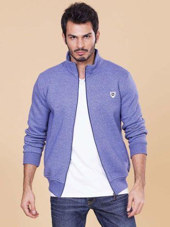 Niebieska rozpinana bluza dla mężczyzny
