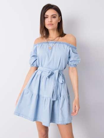 Niebieska sukienka jeansowa Nikolina