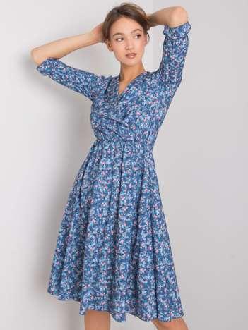Niebieska sukienka w kwiaty Amalie RUE PARIS