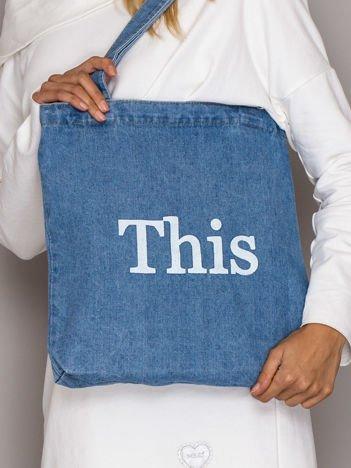 Niebieska torba jeansowa THIS