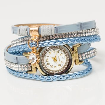 Niebieski Zegarek Damski