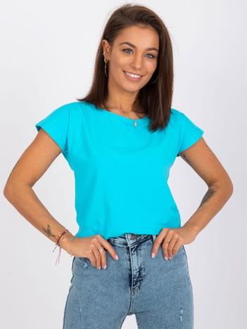 Niebieski bawełniany t-shirt basic