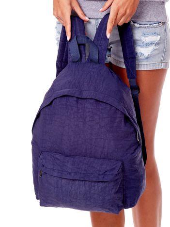 Niebieski materiałowy plecak