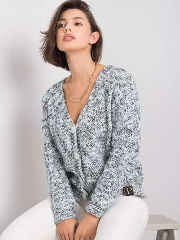 Niebieski melanżowy sweter Samantha RUE PARIS