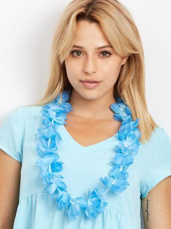 Niebieski naszyjnik hawajski
