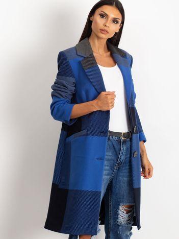 Niebieski płaszcz Geometric