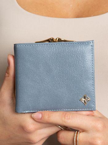 Niebieski portfel z eko skóry