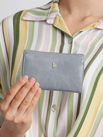 Niebieski portfel z ekoskóry