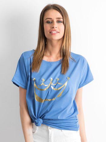 Niebieski t-shirt Kingdom
