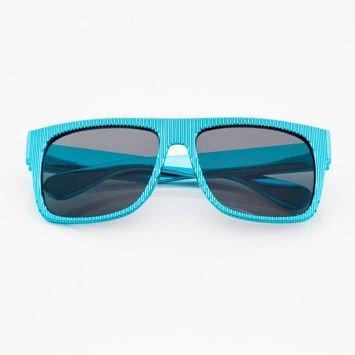 Niebieskie Dziecięce Okulary przeciwsłoneczneZ Metalicznym Połyskiem