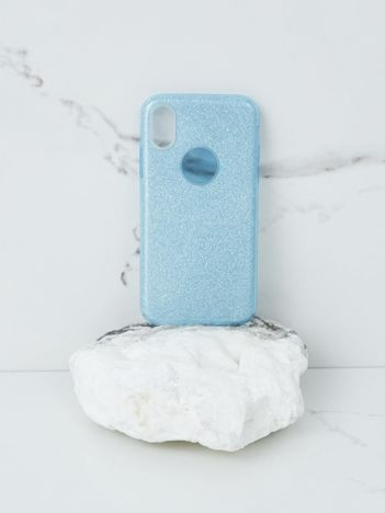 Niebieskie brokatowe etui do iPhone X