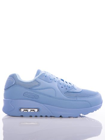 Niebieskie buty sportowe na sprężystej podeszwie