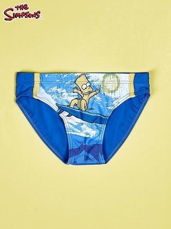 Niebieskie chłopięce kąpielówki SIMPSONOWIE